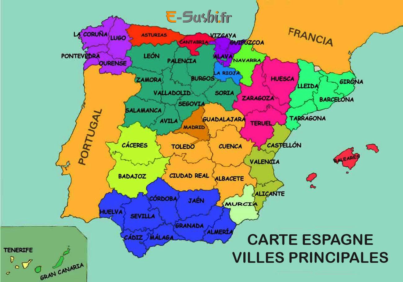 Espagne - Carte