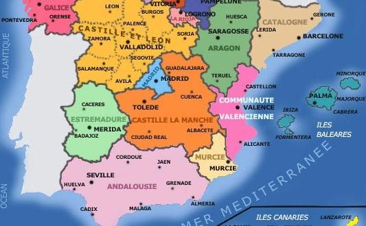 Carte Espagne : Voyages et Vacances | Arts et Voyages