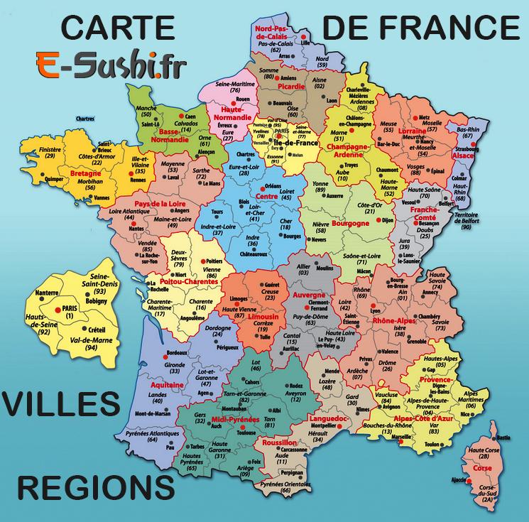 Régions Villes – Carte France