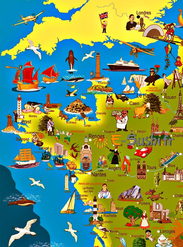 carte de france tourisme - Image