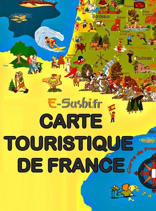 sud ouest carte touristique - Image