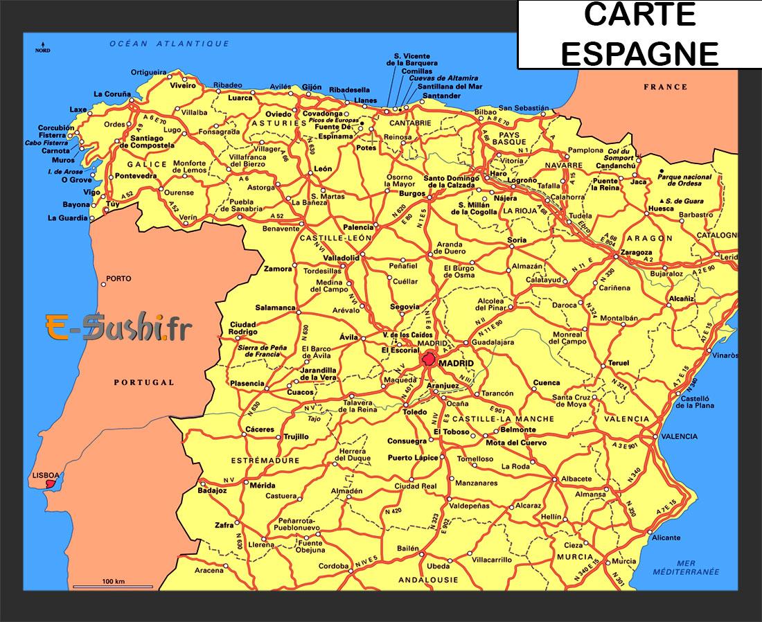 Espagne - Plan et carte du pays