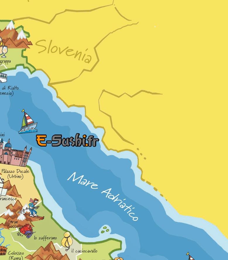 Carte Italie touristique N-E