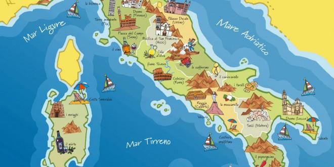 Carte touristique Italie