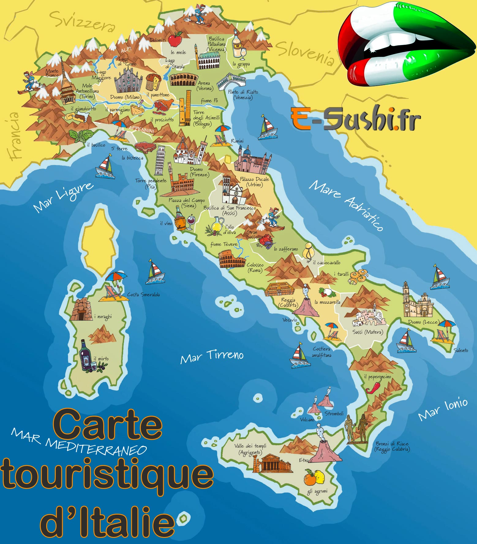 carte touristique italie - Photo
