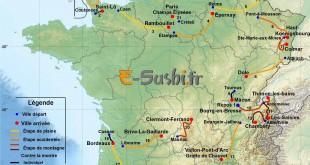 Carte du tour de France - Parcours 2016