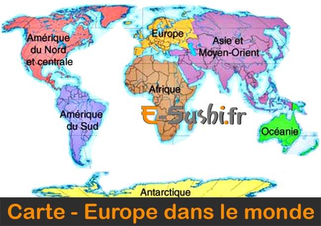 Carte Europe géographie dans le monde