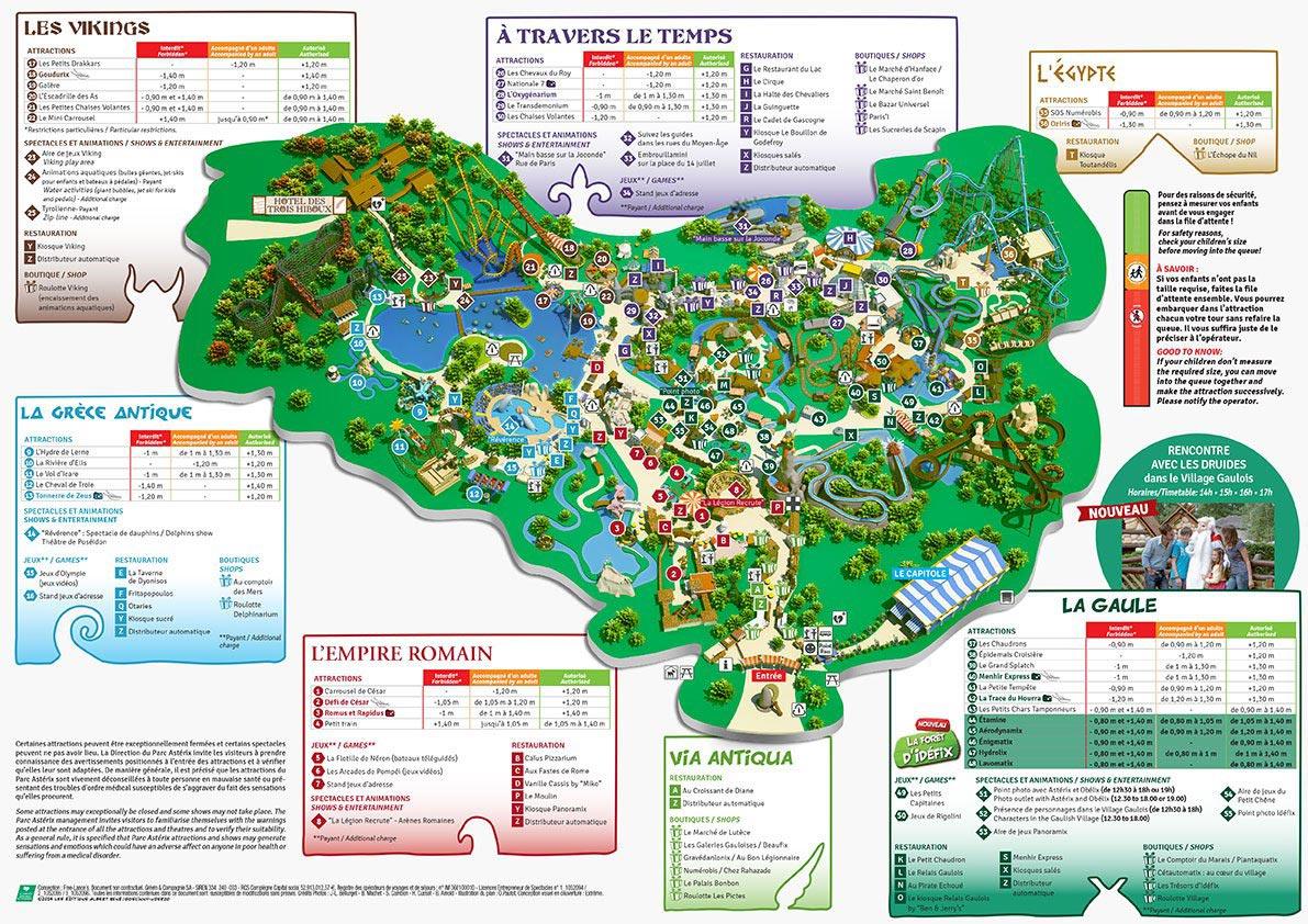 Carte du parc Asterix