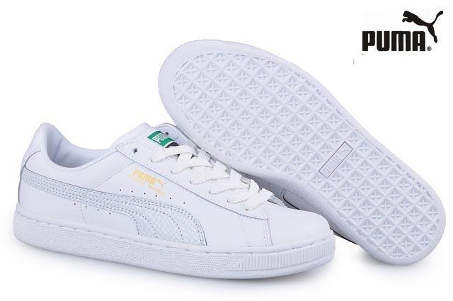 puma suede-blanche
