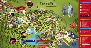 Puy du Fou - plan du parc