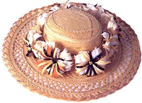 Chapeau tressé de Polynésie
