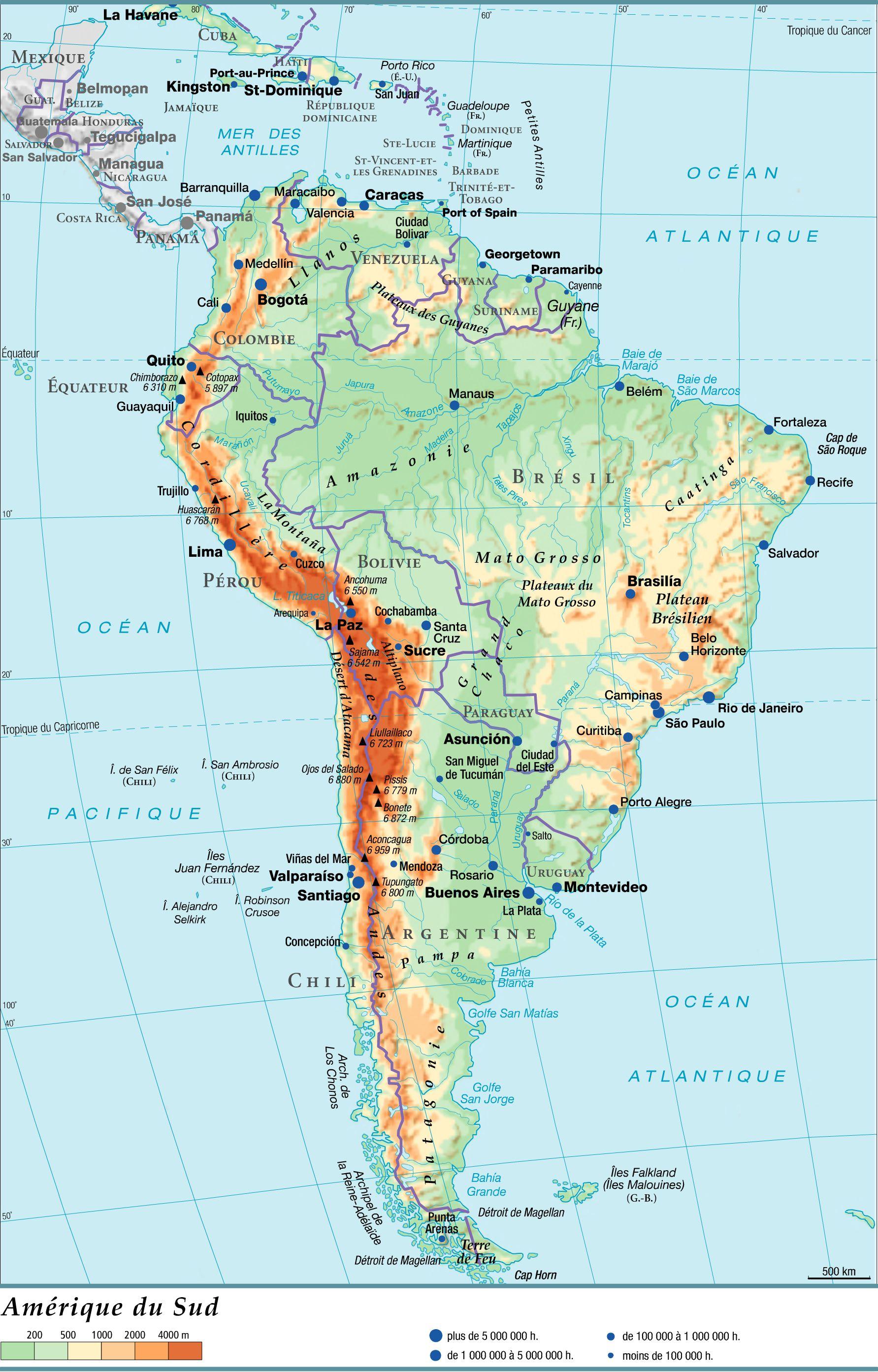 Carte Des Grandes Villes D Am Ef Bf Bdrique Latine