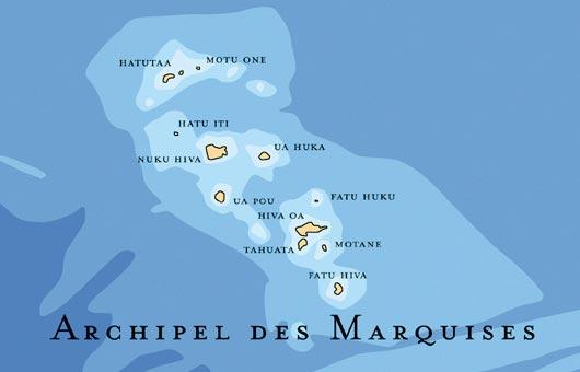 Archipel des Marquises - Carte