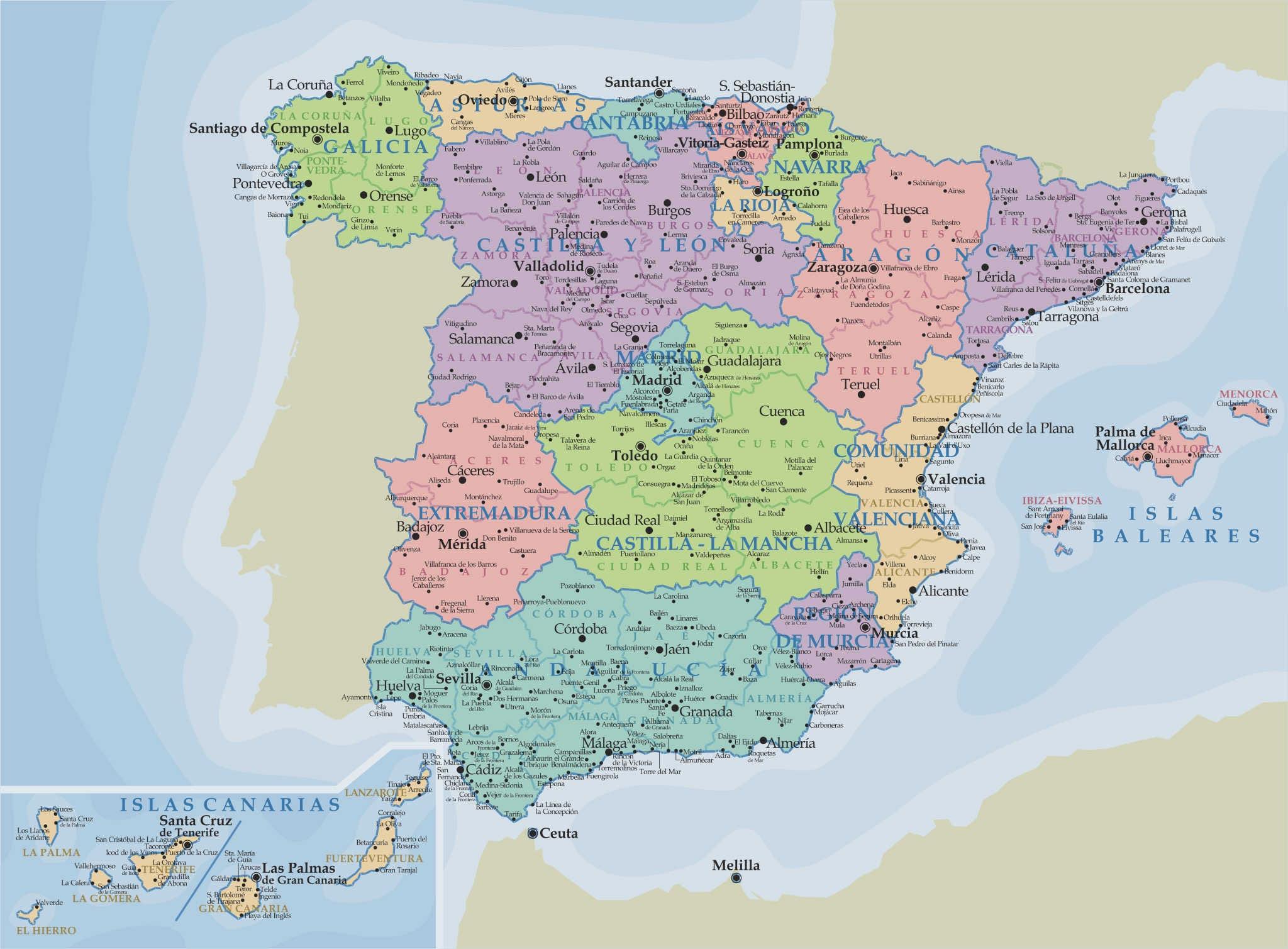 Carte - Espagne