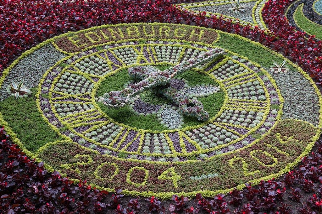 Horloge Florale à Edimbourg