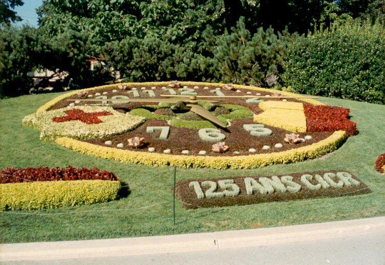 Horloge fleurie à Geneve