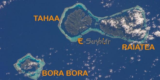 Tahaa et Raiatea - Photo satellite