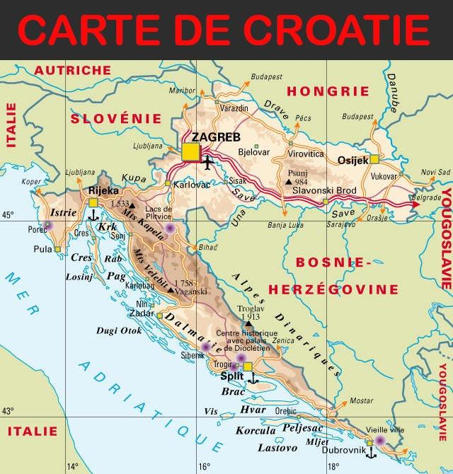 Carte Croatie Dubrovnik.Carte De Croatie Arts Et Voyages