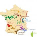 Carte des régions des vins de France