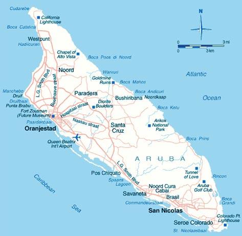 Aruba - Carte