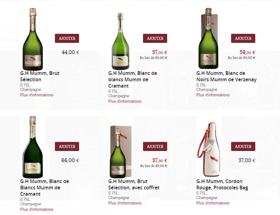 champagne mumm pour noel