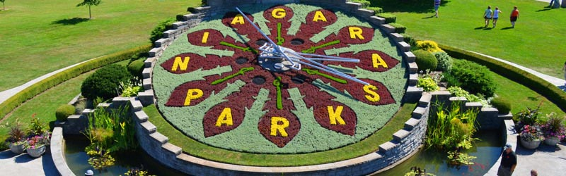 Niagara - Usa - Horloge florale