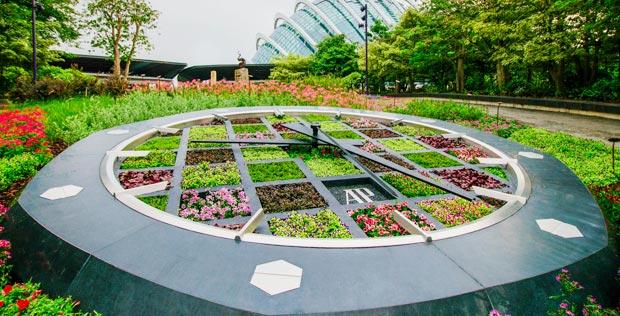 Horloge Florale à Singapour