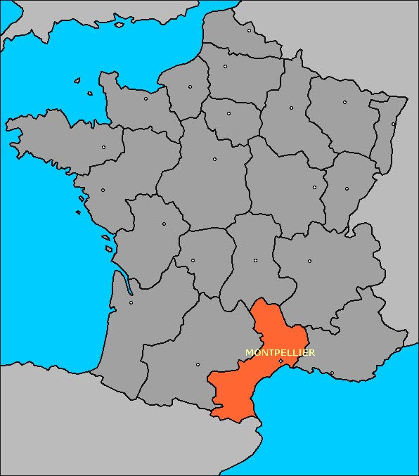 Languedoc - Carte France