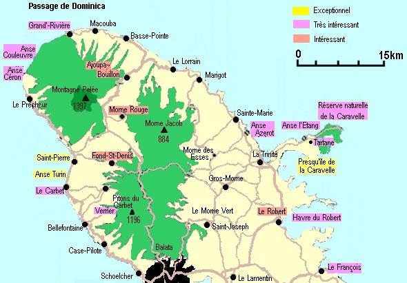 Carte du Pays Nord-Martinique