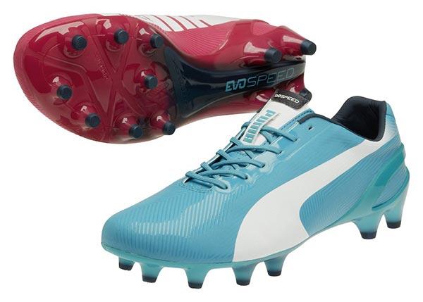 puma foot bleu et rose