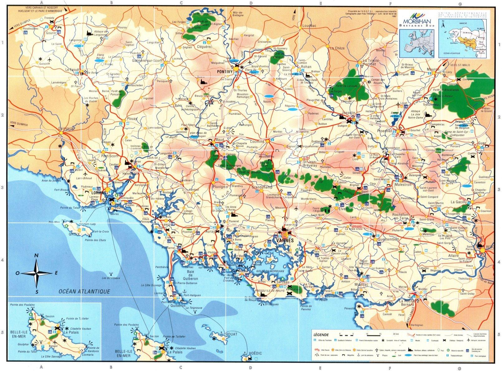 Carte du Morbihan | Arts et Voyages