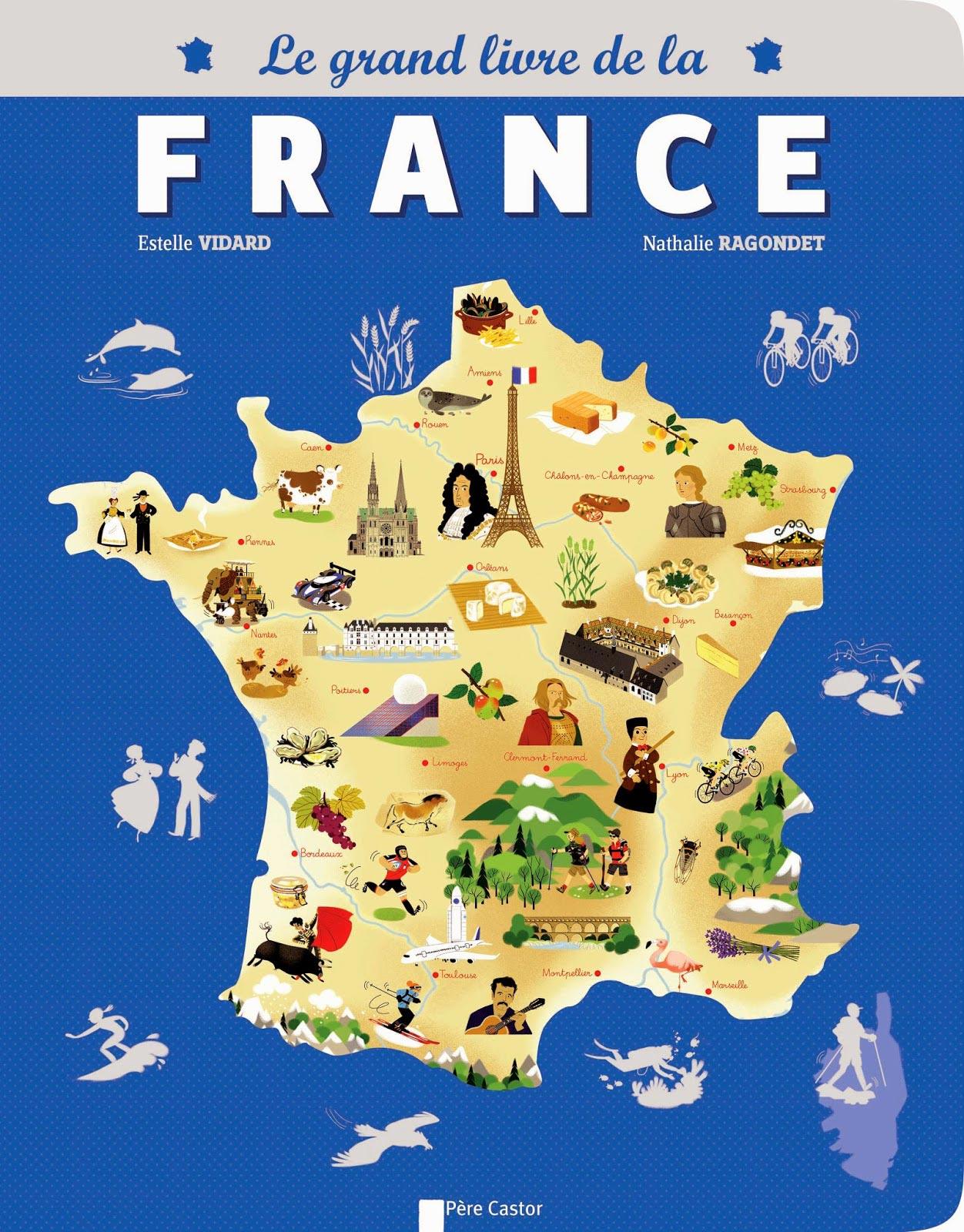 Carte touristique de france arts et voyages for Carte touristique