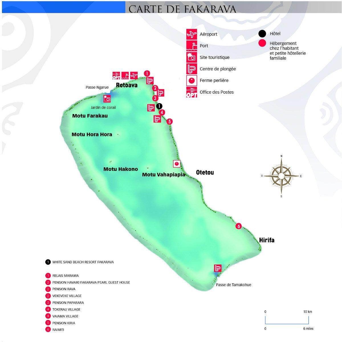 Fakarava - Carte