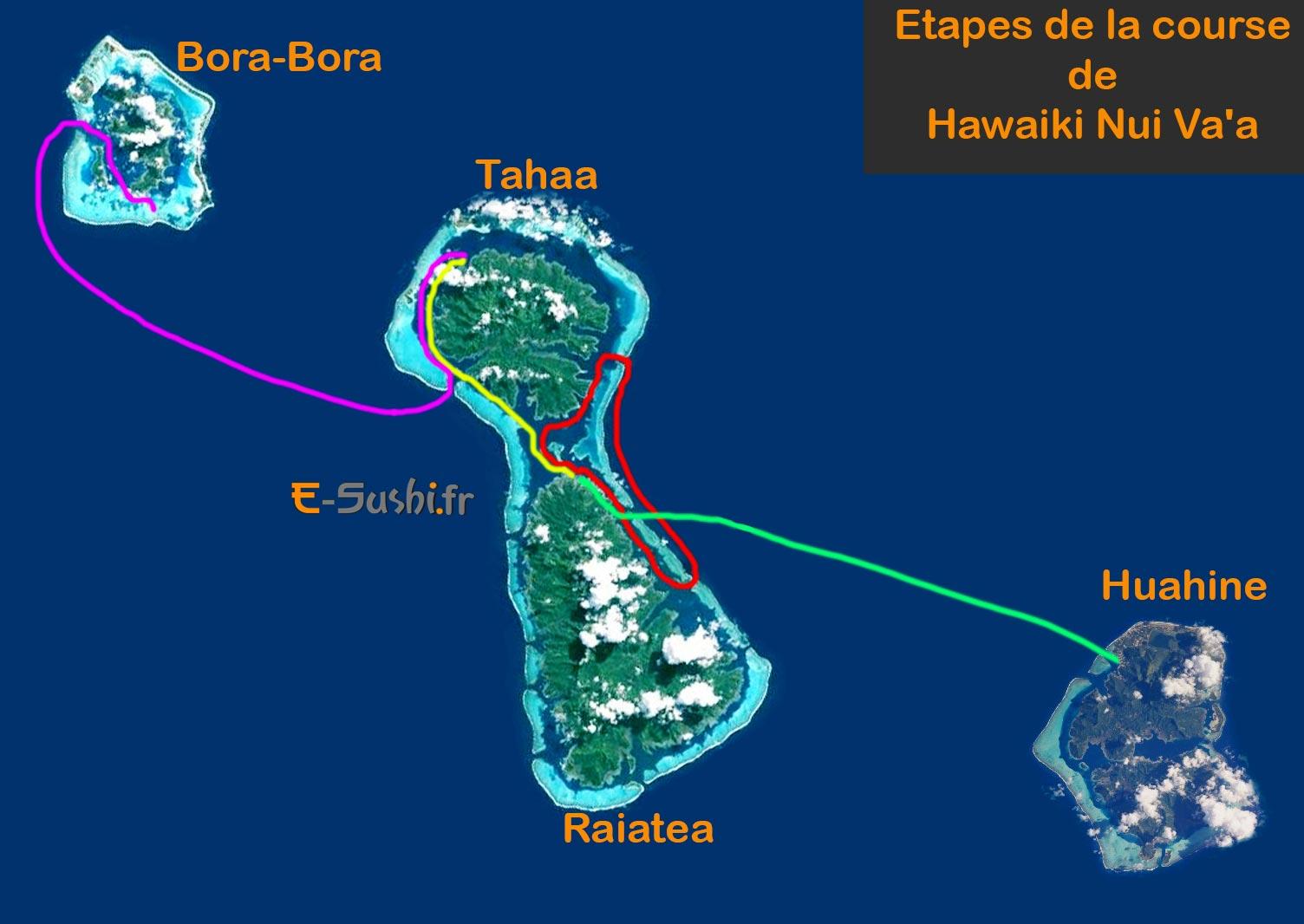 Hawaiki Nui Va'a - Etapes