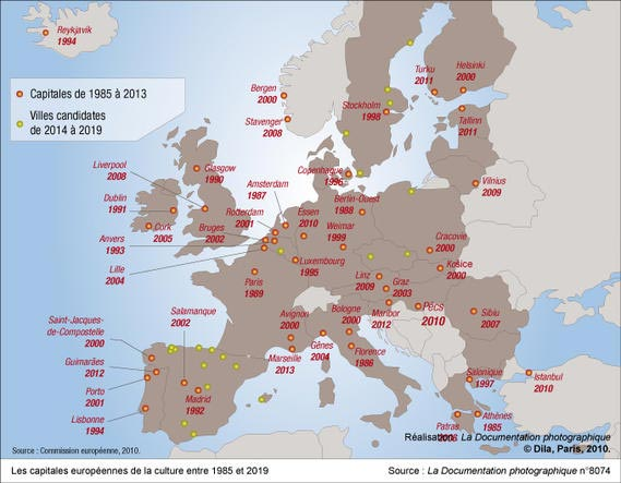 Les capitales européennes de la culture