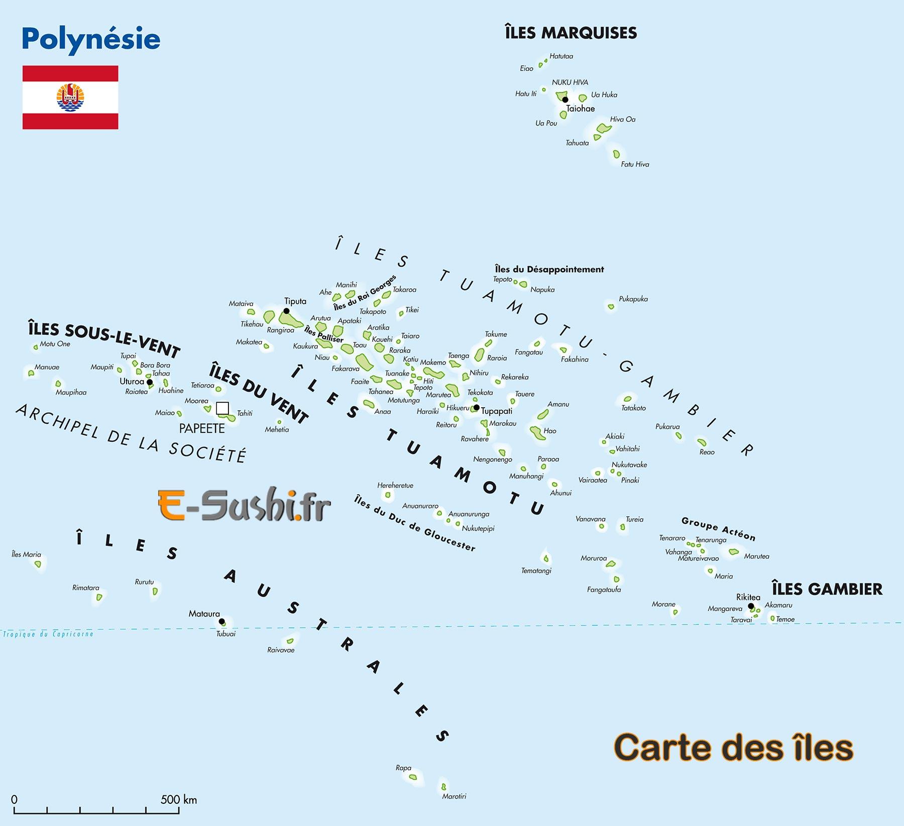 carte de polynesie