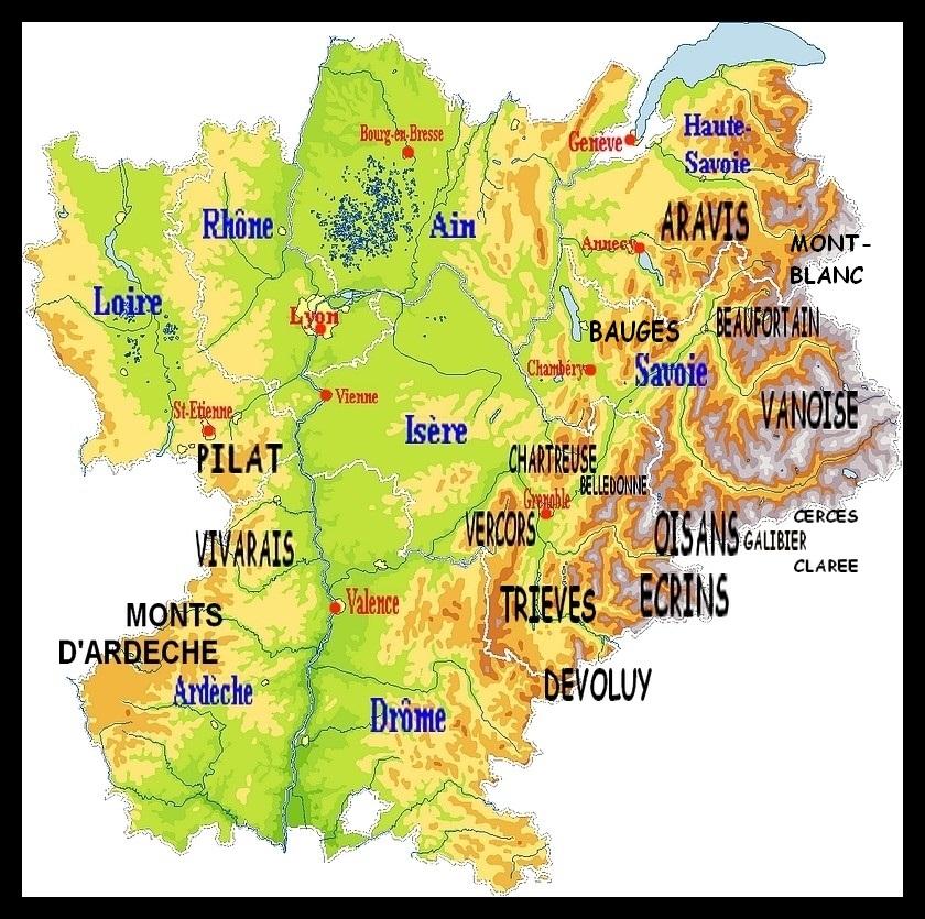 Alpes françaises - Carte