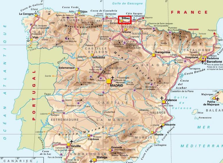 Bilbao - Carte Espagne