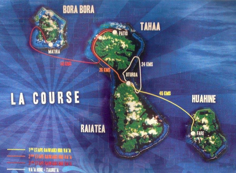 Etapes de la course hawaiki-nui-vaa