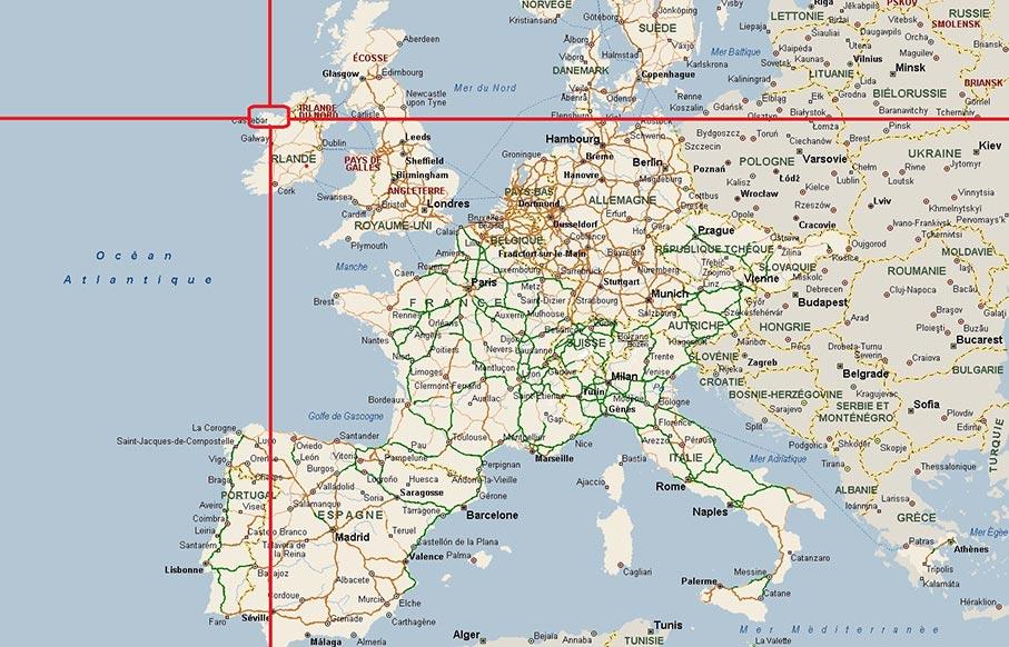 dublin carte du monde Carte Irlande   Géographie   Arts et Voyages
