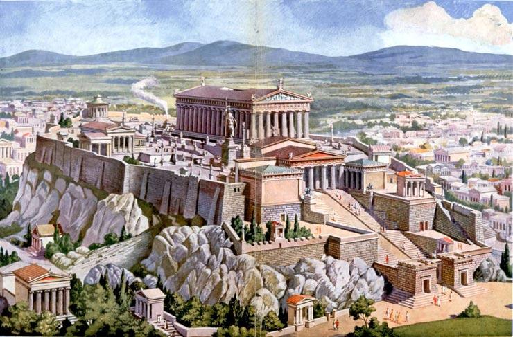 Athènes Acropole antique