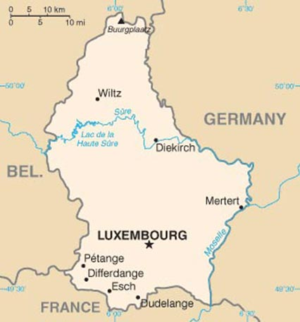 Luxembourg - Carte
