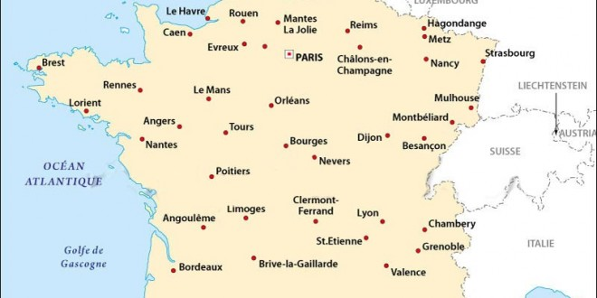 carte des villes de france arts et voyages. Black Bedroom Furniture Sets. Home Design Ideas