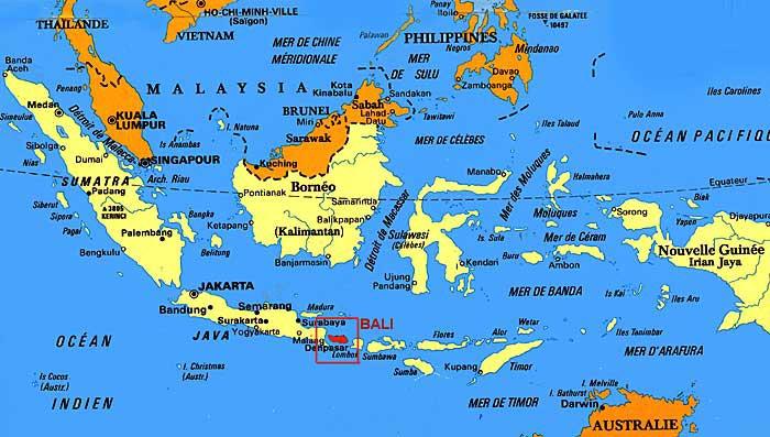 Bali - Carte Indonésie
