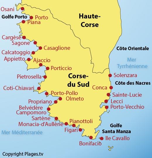 Les plages de la Corse du Sud