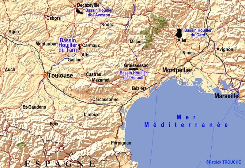 Sud de la France - Carte