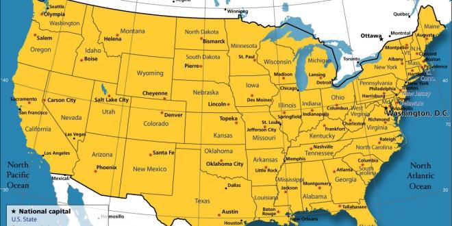 Villes des Etats-Unis - Carte