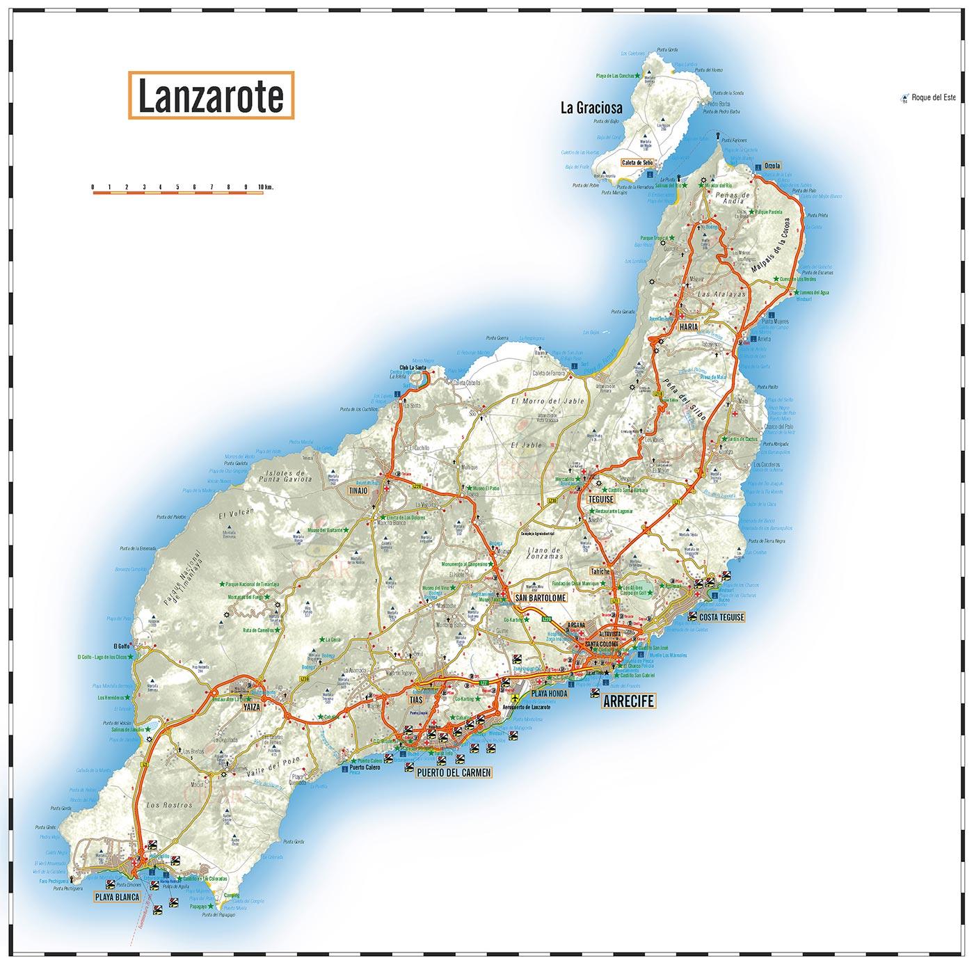 Carte Lanzarote.Lanzarote Arts Et Voyages