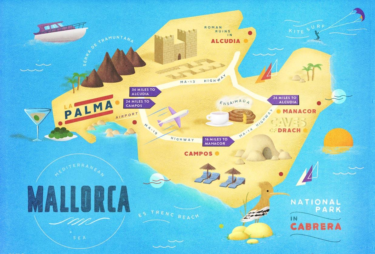 Carte de Majorque