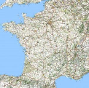 Carte-de-France - Routes touristiques et Historiques